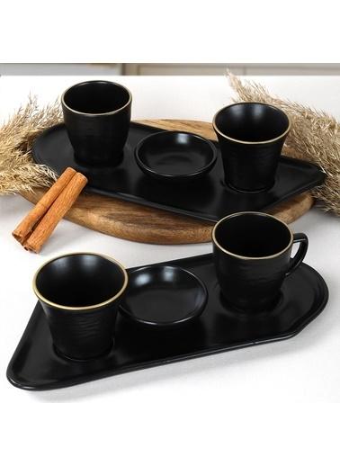 Keramika Keramika Gold Line Black Sunum Seti 8 Parça 2 Kişilik Renkli